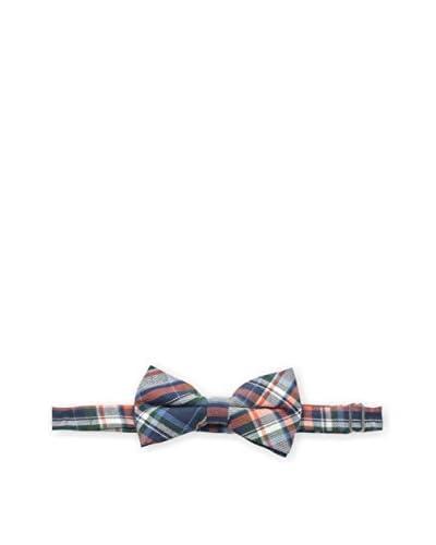 Skinny Tie Madness Men's Pre-Tied Plaid Bowtie, Navy