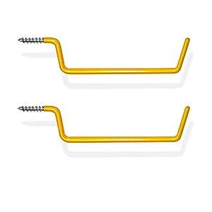 2pc Extra Long Heavy Duty Garage Wall Ladder Hanger Hooks