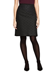 M&S Collection A-Line Jacquard Mini Skirt