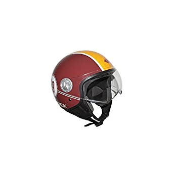 CASQUE JET ADX V2 VINTAGE MAJESTIC ROUGE ---BRILLANT XL