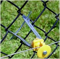 Heavy Duty Chain Link Insulators, Yellow, 2 Bags Of 10 - Total 20 Insulators