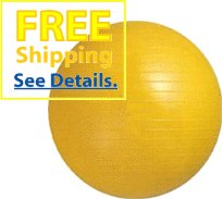 "Balego® Professional Grade Fitness, Exercise Ball: 55 Cm (22"") Yellow front-30886"
