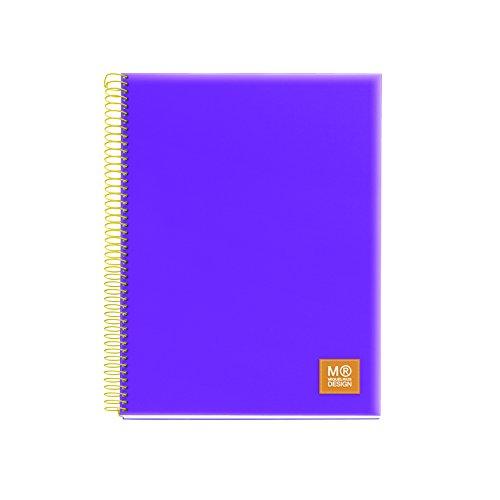 miquelrius-2766-carnet-5-couleurs-a5-quadrille-125-feuilles-80-g-polypropylene-lavande