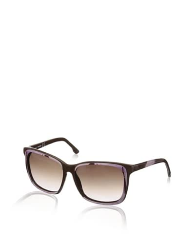 Diesel Women's DL0008 Sunglasses, Brown/Lilac/Light Grey