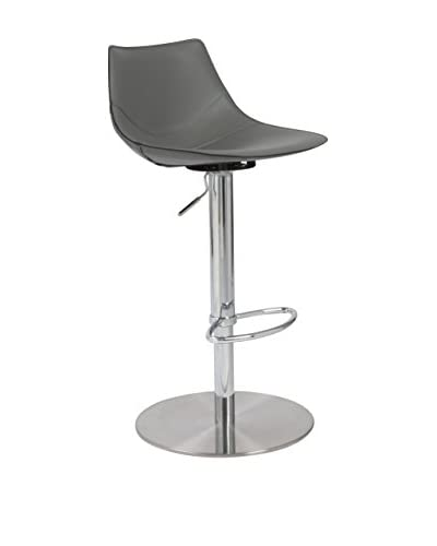 Eurostyle Rudy Adjustable Bar/Counter Stool, Gray