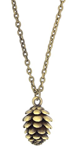 """Zad Jewelry Gold Plated Pinecone Necklace on 16"""" Chain"""