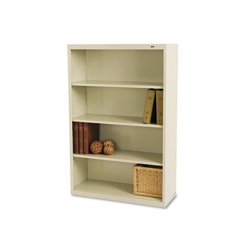 Tennsco B53PY 34-1/2 by 13-1/2 by 52-1/2-Inch Metal Bookcase with 4 Shelves, Putty Safco 3 Shelf Bookcase