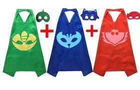 [PJ Masks Costumes For Kids Set of 3 Catboy Owlette Gekko Mask with Cape] (Pj Mask Costume)