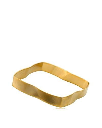 Riccova Country Chic Thin Wave Square Bangle Bracelet, Gold