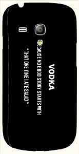 Pretty multicolor printed protective REBEL mobile back cover for S3 Mini / Samsung I8190 Galaxy S III mini D.No.N-L-11151-S3M