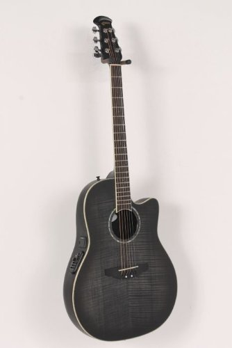 Ovation Celebrity Mid Depth Flame Maple Trans Black Burst Flame