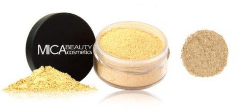 "Mica Beauty Natural Mineral Makeup Loose Powder Foundation ""MF7 Lady Godiva"" 9g + Sample Travel Size 2.5g Loose Powder Foundation"