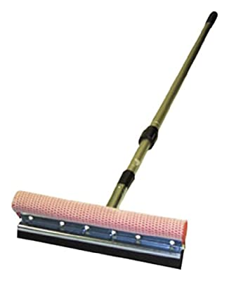 "Carrand 9500 Scrub-N Squeegee 10"" Metal Head with 48""-84"" Extension Pole"