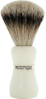 Mason Pearson Brushes Super Badger Shaving Brush SS Ivory