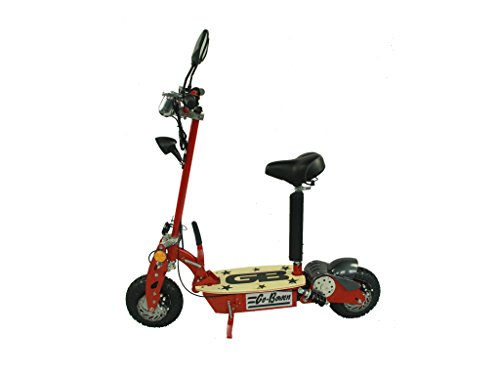 800W Electric Folding Scooter - Red