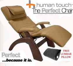 The Human Touch Power Electric Perfect Chair Recliner - Pc95 / Pc-095 Dark Walnut Recline Wood Base Mocha Leather Pads - Interactive Health Zero Anti Gravity Chair