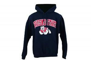 Fresno State Bulldogs Arch Logo navy Hoody by New Agenda by New Agenda