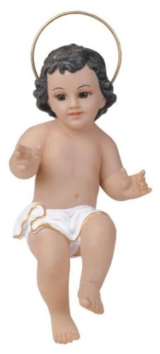 9 Inch Baby Jesus With Glass Eyes Holy Religious Figurine Decoration