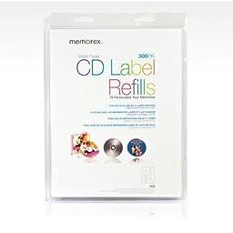 Memorex White CD Labels, Matte Finish. 300 Count (32020403)