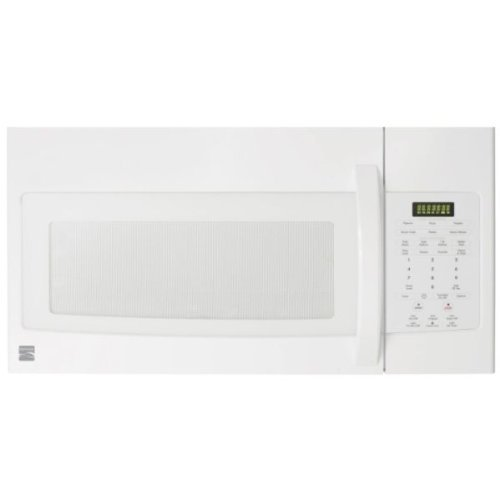 Kenmore 1.7 Cu. Ft. 1000 Watts Over The Range Sensor Cooking Microwave Oven White 85042