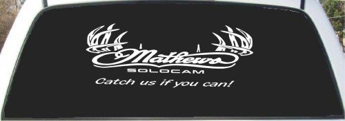Mathews Solocam Deer Antler Hunting Rear Window Decal 9 X 24 (Hunting Rear Window Decal compare prices)