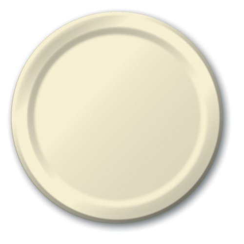 Creative Converting Touch of Color 24 Count Paper Lunch Plates, Ivory