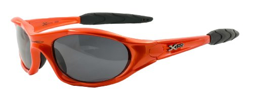 XLOOP Designer Mens Polarised Sports Sunglasses & Pouch PZ05 Orange-Black Tint