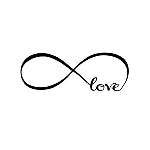 Love Infinity Symbol Vinyl Wall Decal Sticker for Living Room Bedroom Art Home Decoration (Infinity Wall Decal compare prices)