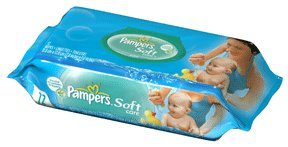 PAMPERS BABY WIPES S/C UNSCNTD , SOFT CARE+ALOE W/FITMENT