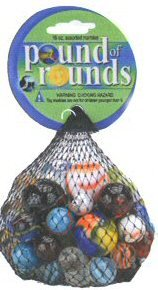 Mega Marbles Pound of Rounds - 64 Assorted Marbles - 1