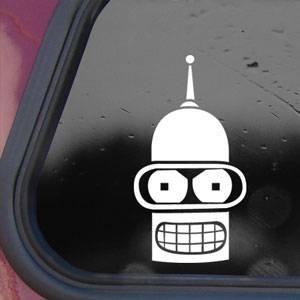 Futurama White Sticker Decal Bender Wall Laptop Notebook