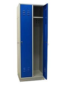 ADB Spind Umkleide Garderobenschrank 2türig Lichtgrau / Himmelblau aus Metall  BaumarktÜberprüfung und Beschreibung