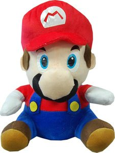 Picture of Popco Super Mario Brothers 12 Inch Plush Mario Figure (B0058EVL5Q) (Popco Action Figures)