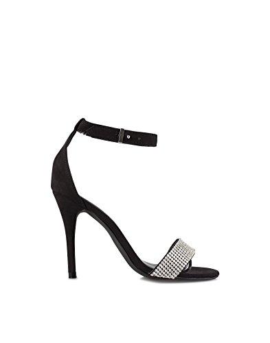 Nly Shoes Women'S Embellished Heel Cap Sand Black 41