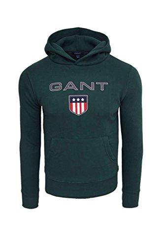 Gant-Felpa con cappuccio da uomo Shield felpa con cappuccio verde L