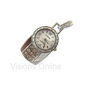 Visions Jewelery USB FLash Drive 4GB Pendant Silver Watch