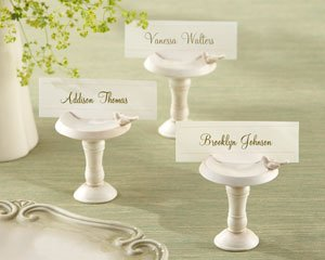 24 - Sweetwater Park Bird Bath Place Card Holder - (6 sets of 4)