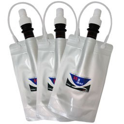 【水素水真空保存容器】 H2-BAG 500ml×3個 (加水素(H2)液体真空保存容器)