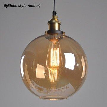 Industrial Creative Glass Pendant Light Loft Restaurant Bar Bulb Hanging Ceiling Lamp Fixture