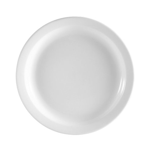 Cac China Ncn-5 Clinton Narrow Rim 5-1/2-Inch Super White Porcelain Plate, Box Of 36