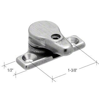 """C.R. Laurence H3633 Crl Project-In Casement Window Security Lock 1-3/8"""" Screw Holes front-1021788"""