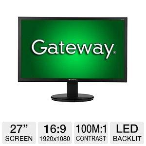 """Gateway Kx2703 27"""" Lcd Monitor Um.Hw3Aa.003"""