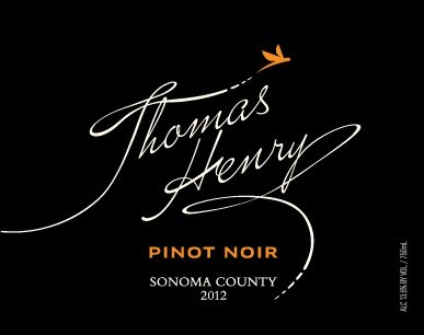 2011 Thomas Henry Sonoma County Pinot Noir 750Ml