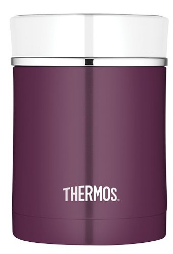 Thermos NS340PL4 Food Jar, Stainless Steel, 16-Ounce (Plum)