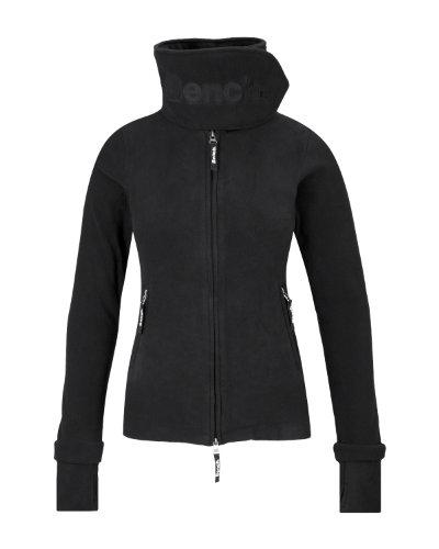 Bench - Giacca in pile a collo alto da donna, Nero (Jet Black), XL