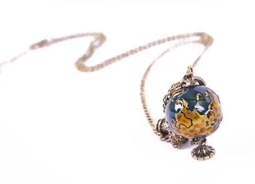 Sheinside Retro Gold Globe Telescope Necklace
