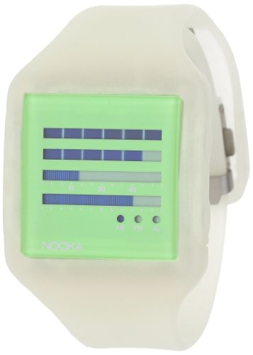 Nooka Unisex ZUB-ZENH-GL-20 Zub ZenH Glow in the Dark Polyurethane Watch