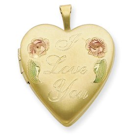 Genuine IceCarats Designer Jewelry Gift 1/20 Gold Filled 20Mm Enameled I Love You Heart Locket