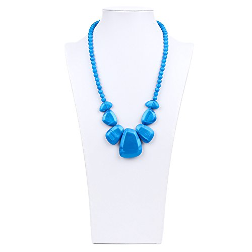 Bumkins Nixi Rocca Silicone Teething Necklace, Sapphire
