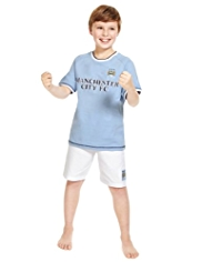 Pure Cotton Manchester City Football Club Pyjama Shorts Set